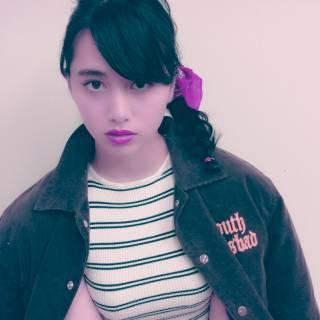 三つ編み オン眉 秋 ヘアアレンジ ヘアスタイルや髪型の写真・画像