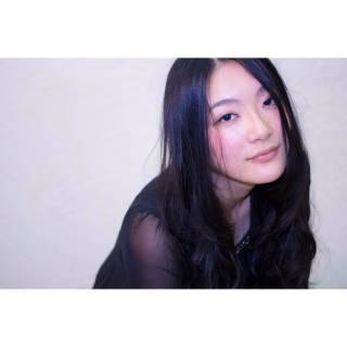 大人かわいい 黒髪 ロング フェミニン ヘアスタイルや髪型の写真・画像