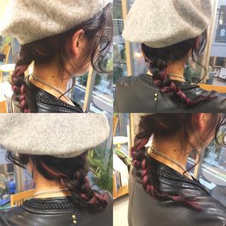 冬 セミロング ヘアアレンジ 簡単ヘアアレンジ ヘアスタイルや髪型の写真・画像