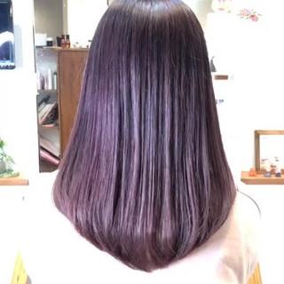デート 外国人風カラー 大人女子 セミロング ヘアスタイルや髪型の写真・画像