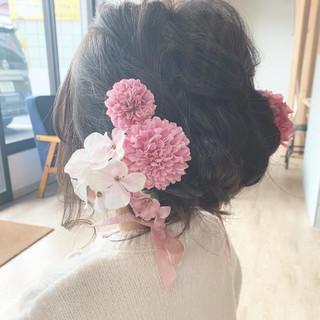 簡単ヘアアレンジ ヘアアレンジ ミディアム かわいい ヘアスタイルや髪型の写真・画像 | 寺島孝夫 / Lea hair&nail