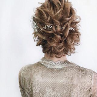 大人かわいい パーティ セミロング ガーリー ヘアスタイルや髪型の写真・画像