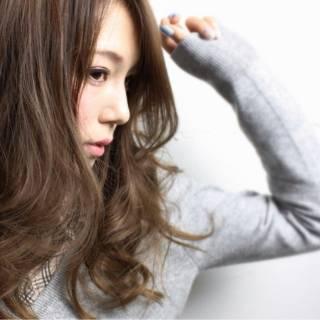 ウェーブ ロング モード モテ髪 ヘアスタイルや髪型の写真・画像