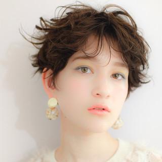 ベリーショート ショートヘア ベージュ ショートボブ ヘアスタイルや髪型の写真・画像
