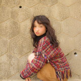 透明感 冬 セミロング 秋 ヘアスタイルや髪型の写真・画像