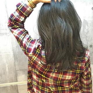 アッシュ デート ナチュラル 暗髪 ヘアスタイルや髪型の写真・画像