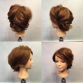 波ウェーブ セミロング 簡単ヘアアレンジ 無造作 ヘアスタイルや髪型の写真・画像