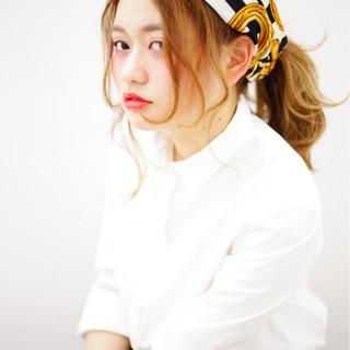 外国人風 セミロング 簡単ヘアアレンジ ガーリー ヘアスタイルや髪型の写真・画像