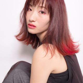 ロング 前髪あり グラデーションカラー ストリート ヘアスタイルや髪型の写真・画像