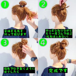 ヘアアレンジ 簡単ヘアアレンジ フェミニン セミロング ヘアスタイルや髪型の写真・画像 ヘアスタイルや髪型の写真・画像