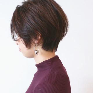 ハンサムショート ショートヘア ナチュラル グラデーションカラー ヘアスタイルや髪型の写真・画像