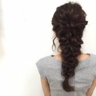ヘアアレンジ 編み込み フィッシュボーン ゆるふわ ヘアスタイルや髪型の写真・画像