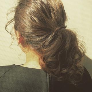 簡単ヘアアレンジ ガーリー ナチュラル ラフ ヘアスタイルや髪型の写真・画像