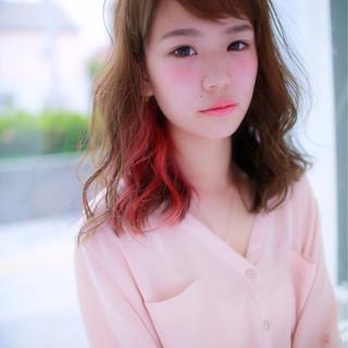 夏 大人かわいい 春 ピンク ヘアスタイルや髪型の写真・画像