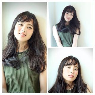 外国人風 大人かわいい セミロング ニュアンス ヘアスタイルや髪型の写真・画像