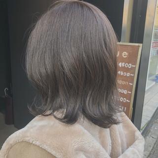 ブルージュ アッシュグレージュ アディクシーカラー ミディアム ヘアスタイルや髪型の写真・画像