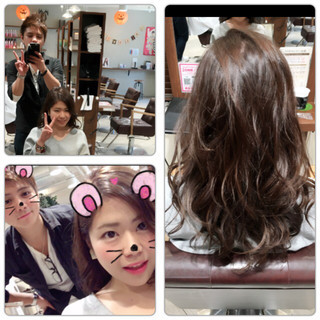 アッシュ フェミニン ラフ ガーリー ヘアスタイルや髪型の写真・画像