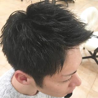 メンズショート ツーブロック メンズ 束感 ヘアスタイルや髪型の写真・画像