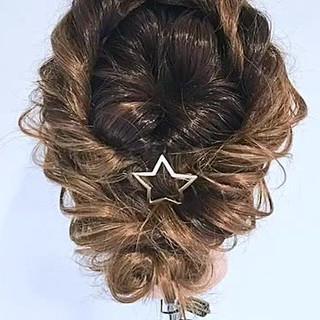 上品 セミロング 結婚式 大人かわいい ヘアスタイルや髪型の写真・画像
