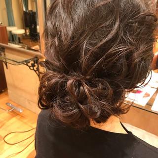 ヘアアレンジ 卒業式 ロングヘア ミディアム ヘアスタイルや髪型の写真・画像
