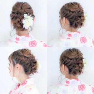 花火大会 ロング お祭り デート ヘアスタイルや髪型の写真・画像