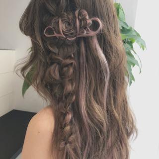結婚式 ロング ガーリー レッド ヘアスタイルや髪型の写真・画像 ヘアスタイルや髪型の写真・画像