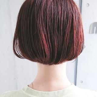 デート ショートボブ パーマ ミニボブ ヘアスタイルや髪型の写真・画像