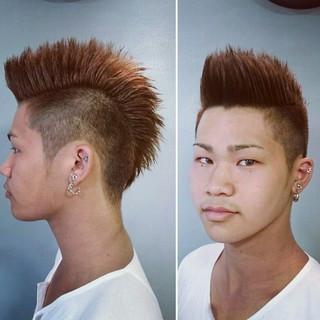 ヘアアレンジ メンズ ストリート ショート ヘアスタイルや髪型の写真・画像 ヘアスタイルや髪型の写真・画像
