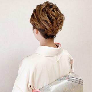 エレガント 訪問着 お呼ばれ 結婚式 ヘアスタイルや髪型の写真・画像