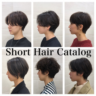 ショートボブ マッシュショート 前下がりショート ショート ヘアスタイルや髪型の写真・画像