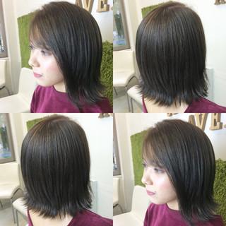ストリート 暗髪 グレー ボブ ヘアスタイルや髪型の写真・画像