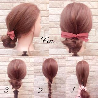 ツイスト ヘアアレンジ 簡単ヘアアレンジ 春 ヘアスタイルや髪型の写真・画像