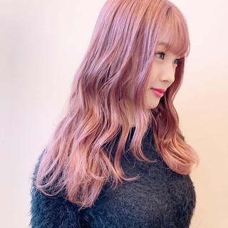 ハイトーンカラー ハイトーン ピンクカラー ラベンダーピンク ヘアスタイルや髪型の写真・画像