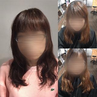 ナチュラル ロング デジタルパーマ ヘアスタイルや髪型の写真・画像