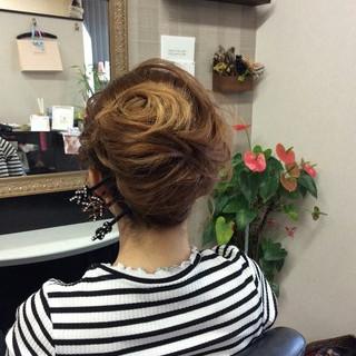 ナチュラル ヘアアレンジ 夜会巻 ロング ヘアスタイルや髪型の写真・画像