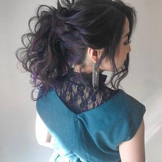 簡単ヘアアレンジ ナチュラル デート セミロング ヘアスタイルや髪型の写真・画像 ヘアスタイルや髪型の写真・画像