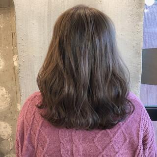謝恩会 結婚式 ミディアム ナチュラル ヘアスタイルや髪型の写真・画像