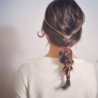 外国人風 ショート ヘアアレンジ ハーフアップ ヘアスタイルや髪型の写真・画像