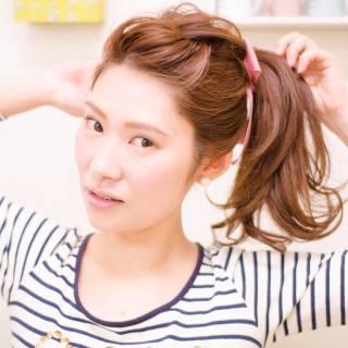 モテ髪 簡単ヘアアレンジ ショート 愛され ヘアスタイルや髪型の写真・画像