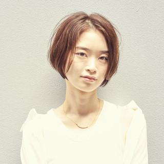 ショート ミニボブ 小顔ショート ショートボブ ヘアスタイルや髪型の写真・画像