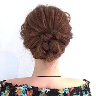 ヘアアレンジ アップスタイル ロング セルフアレンジ ヘアスタイルや髪型の写真・画像