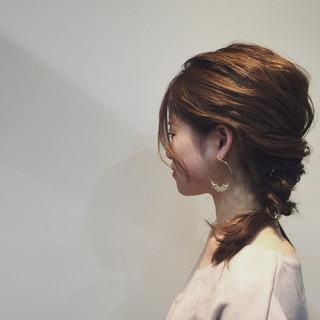 大人女子 ヘアアレンジ アンニュイ セミロング ヘアスタイルや髪型の写真・画像 ヘアスタイルや髪型の写真・画像