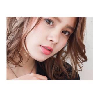 ミディアム 春 パンク ウェットヘア ヘアスタイルや髪型の写真・画像