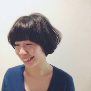 大人かわいい マッシュ ナチュラル 卵型 ヘアスタイルや髪型の写真・画像