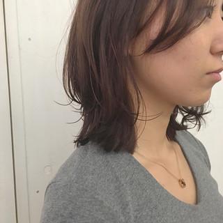 女子力 ショコラブラウン ミディアム ナチュラル ヘアスタイルや髪型の写真・画像