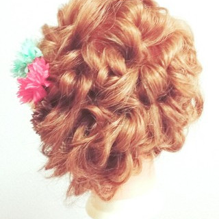 ブライダル ゆるふわ セミロング 結婚式 ヘアスタイルや髪型の写真・画像