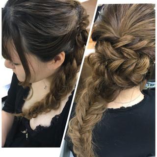 女子会 ヘアアレンジ アウトドア ロング ヘアスタイルや髪型の写真・画像