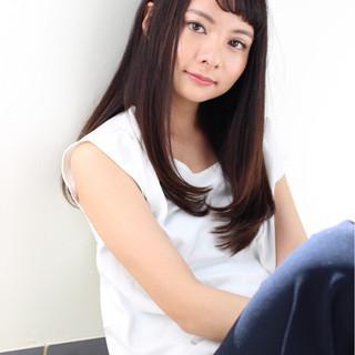 前髪あり ロング かっこいい ボーイッシュ ヘアスタイルや髪型の写真・画像