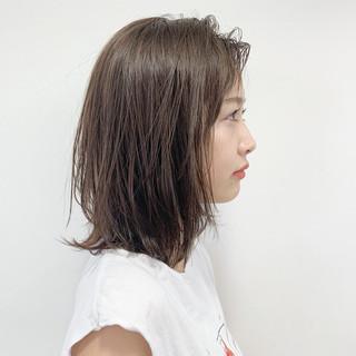 ナチュラル レイヤーカット 大人かわいい ロブ ヘアスタイルや髪型の写真・画像