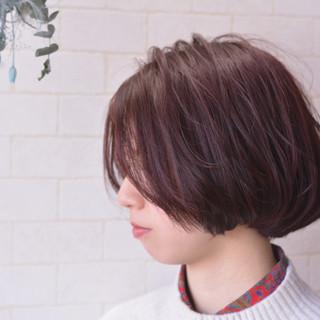 髪質改善 ナチュラル ボブ 髪質改善カラー ヘアスタイルや髪型の写真・画像